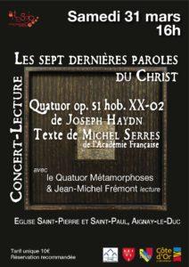 Les sept dernières paroles du Christ @ Eglise d'Aignay-le-Duc