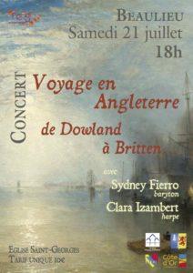 "Concert ""Voyage en Angleterre"" @ Eglise de Beaulieu"