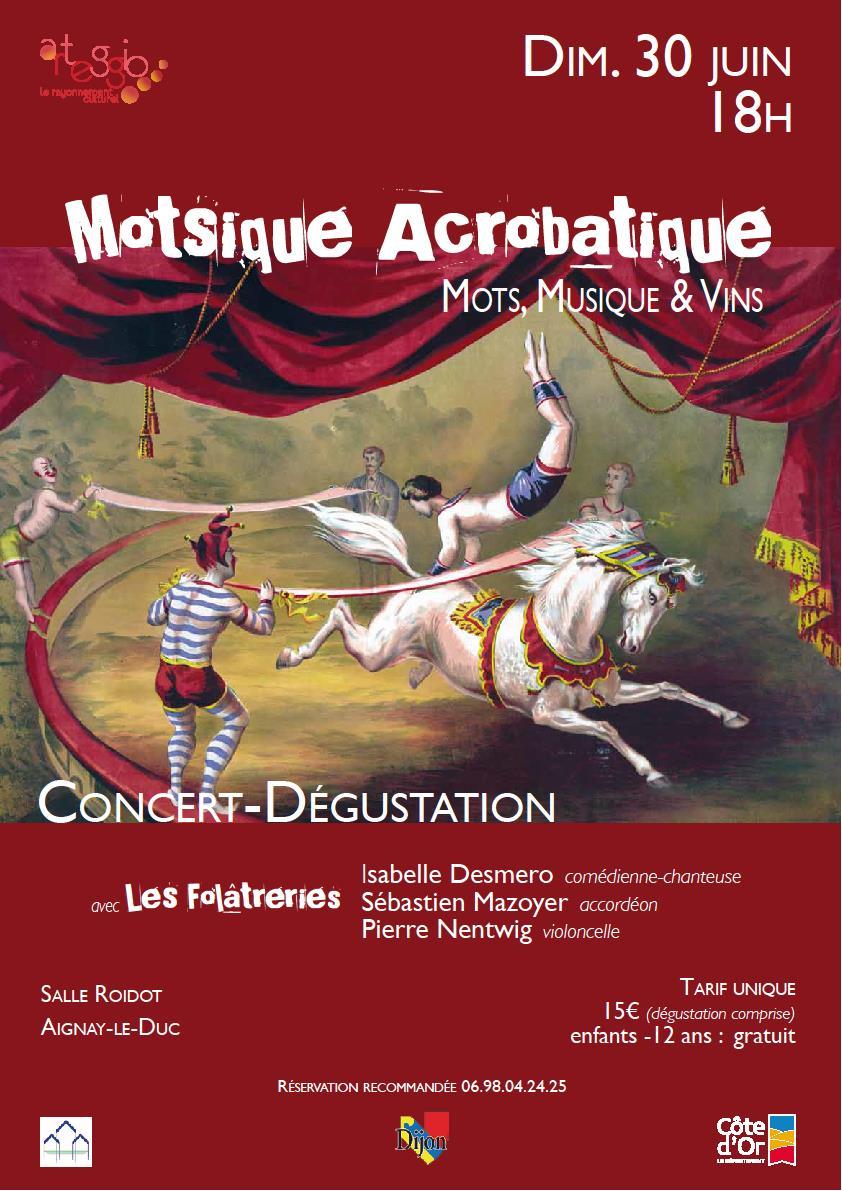 """Concert-dégustation """"Motsiques acrobatiques"""" @ Salle Roidot"""
