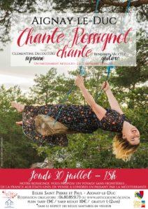 """Concert """"Chante Rossignol, chante @ Eglise d'Aignay-le-Duc"""