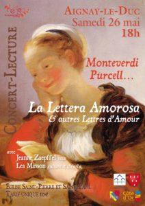 La Leterra amorosa et autres lettres d'amour @ Eglise d'Aignay-le-Duc