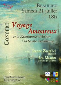 """Concert """"Voyage amoureux"""" @ Eglise de Beaulieu"""
