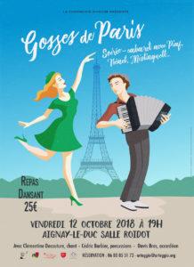 """Repas dansant """"Gosses de Paris"""" @ Salle Roidot à Aignay-le-Duc"""