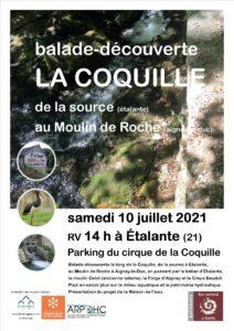 """Sortie """"La Coquille, de la source au moulin de Roche"""" @ RV sur le parking du Cirque de la Coquille à Etalante"""